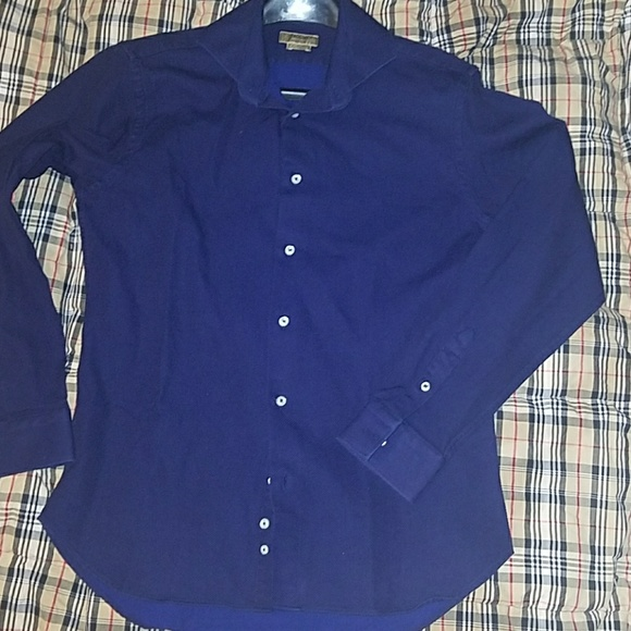 60% off Zara Other - Zara mens navy blue shirt tailored fit from ...